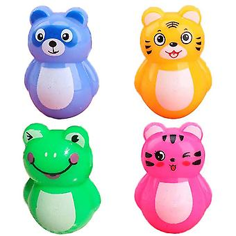 Tumbler Adorable Roly-poly Plastic Cartoon Animal - Tumbler Rattles Toys Baby Newborn Infant Decoration Toys (multicolor)