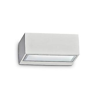 1 Luce all'aperto Twin Up Down Wall Light White IP44, G9