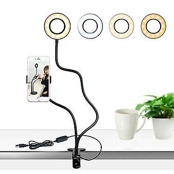 Soporte universal 24 Leds anillo de luz de relleno, cámara alimentada por usb, teléfono celular, clip
