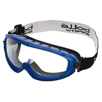Bolle ATOFAPSI Atom Goggles Rubber Frame Vented Edge Clear Anti-Scratch/Fog Lens
