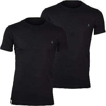 Replay 2-Pack Crew-Neck T-Shirts, Noir