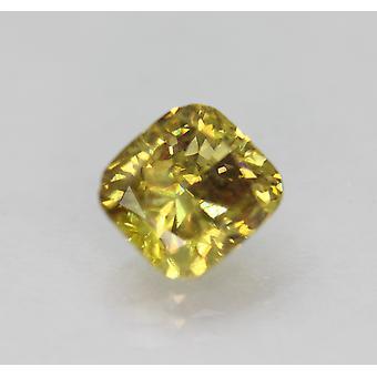 Cert 1.52 Carat Brown Yellow VS1 Cushion Enhanced Natural Diamond 6.74x6.19mm