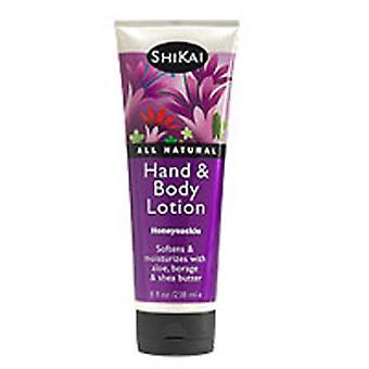 Shikai Hand & Body Lotion, Honeysuckle 8 Oz