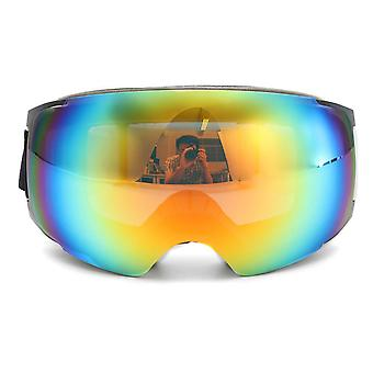 Magnet UV Protection Anti Fog White Frame Double Lens Snowboard Ski Goggles