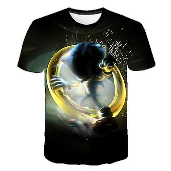 Short Sleeve, 3d Cartoon Printed - T Shirt For (set-3)