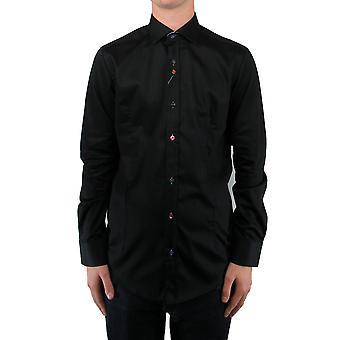 Black Contrast Trim Shirt