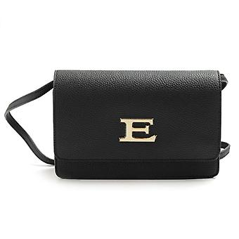 Ermanno Scervino Eba Black Crossbody Bag With Draw