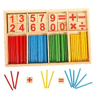 Montessori Math Educational Wooden For, Early Learning Puzzle Kids Number