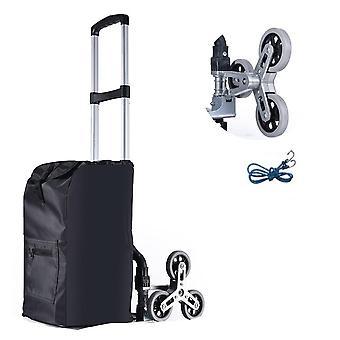Stair Climbing Cart, All Terrain, Hand Truck With Bungee Cord, Portable Folding