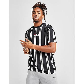 חולצת טי חדשה עם פסים בצבע שחור