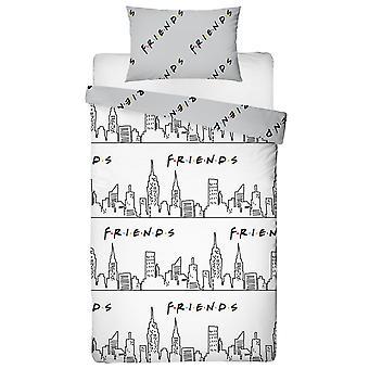 Friends Scene Single Duvet Cover y Pillowcase Set
