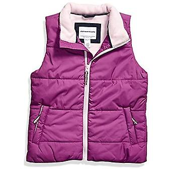 Essentials Girls' Toddler Heavy-Weight Puffer Vest, Bright Purple, 3T