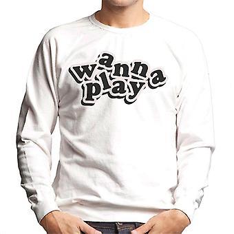 Chucky vill spela Lekfull Font Men's Sweatshirt