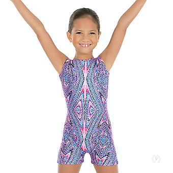 Eurotard 23503 Child Metallic Kaleidoscope Print Gym Leotard