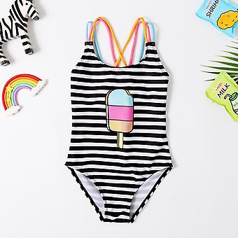 Baby Swimsuit- 1 Piece Swimwear Bodysuit Striped Swimsuit