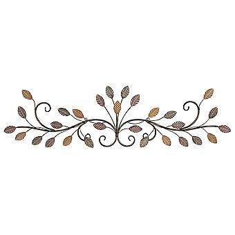 Warm Scrolling Metall Blätter über Tür Wand Dekor
