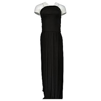 Belle Beach By Kim Gravel Dress Strapless Maxi W/ Pockets Black A378635