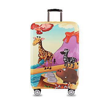 Funny Animals Printed Spandex Travel Luggage Cover