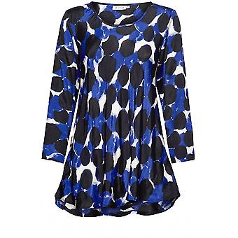Masai Clothing Kay Blue Bold Print Top