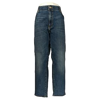 Lee Men's Straight Jeans 42x30 Classic Pocketed Blue