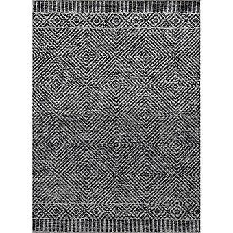 """HUDSON 2463 2'3""""X 8'RU / Grey/Black rug"""
