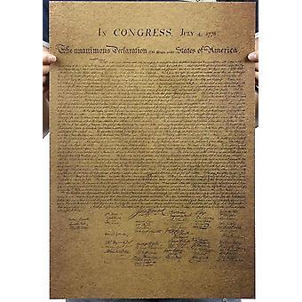الإعلان الأمريكي للاستقلال خمر كرافت ورقة ملصق الفيلم الكلاسيكي