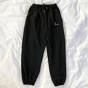 Mujeres Casual Loose Korean Style Thick Sweatpants para Pantalones de Otoño/Invierno