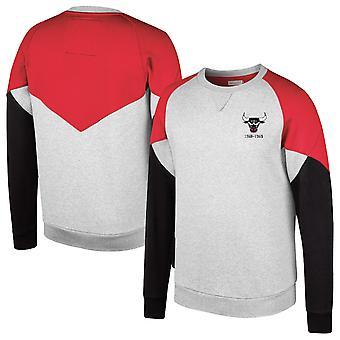 Mitchell & Ness Chicago Bulls Trading Block Crew Sweatshirt Grey CBU FKC