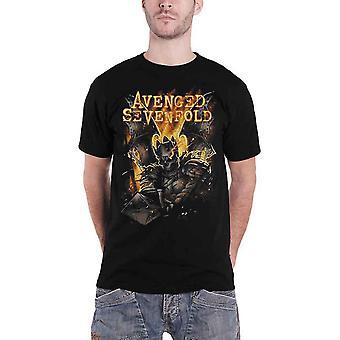 Avenged Sevenfold T Shirt Atone kral yeni Resmi Mens Siyah selamı