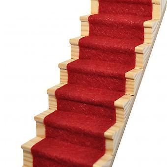 Dolls House Garnet Red Wool Mix Stair Carpet Runner Self Adhesive 1:12 Flooring