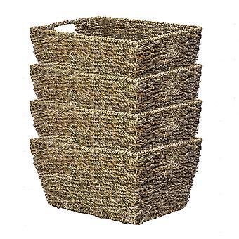 Natural Seagrass Storage Basket | M&W Set of 4