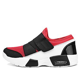 Unisex Air Cushion Fashion Sneakers 8159 WhiteRed