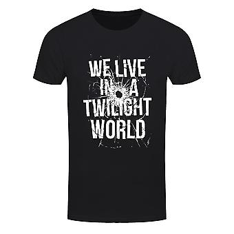 Grindstore Mens We Live In A Twilight World T-Shirt