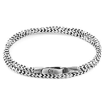 ANCHOR & CREW Liverpool Silver and Rope Bracelet