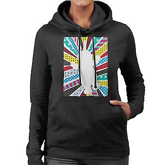 Teletubbies Dipsy Silhouette Women's Hooded Sweatshirt