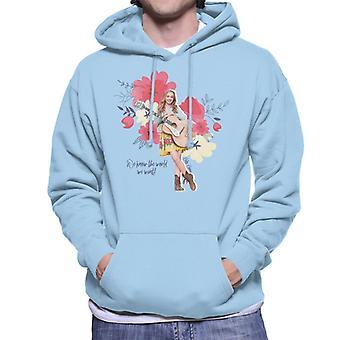 Holly Hobbie Vi kender verden, vi ønsker mænd's Hooded Sweatshirt