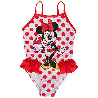 Disney Minnie Mouse Röd Polka Dot One Piece Småbarn Baddräkt