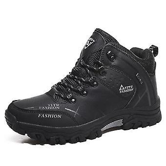 Ciepłe buty, wodoodporne skórzane trampki