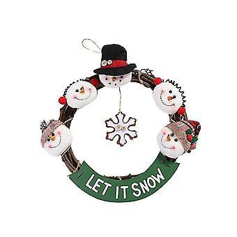 Calendrier de l'arbre de Noël Pendentif Décoration de Noël Creative Non-tissé Pendentif Calendrier de compte à rebours de Noël