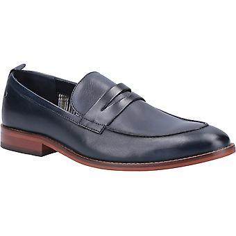 Base lens washed leather mens formal shoes navy UK Size