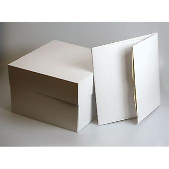 """Boîtes blanches de gâteau - 14"""" carré (355mm sq.) - simple"""
