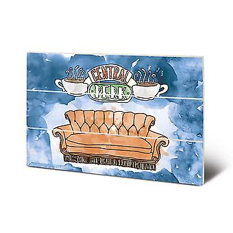 Friends Central Perk Wood Print