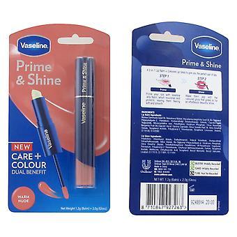 Vaseline Prime & Shine 2 in 1 Lip Balm and Gloss - Nude