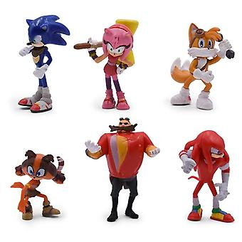 6 pezzi/set Sonic Figures Pvc Sonic Shadow Tails Personaggi Figure