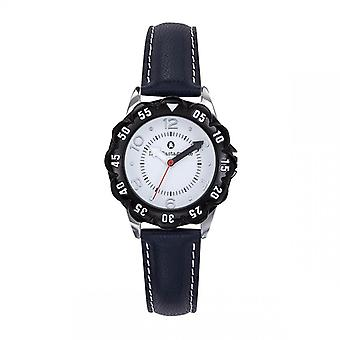 Watch Lulu Castagnette 38862 - P tale Bo tier Steel Black Leather Bracelet Black Black Cadran White Junior