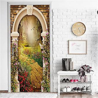 Garden Door Mural Self-adhesive Waterproof Vinyl Poster