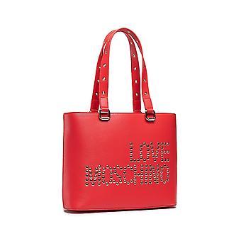 Damen Tasche Liebe Moschino Shopping In rot Kunstleder Bs21mo107 Jc4225