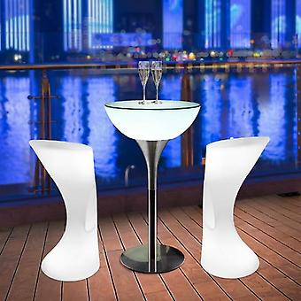 Led Luminous Table, Quiet / Cafe Ktv Bar Outdoor Recreational Furniture Table