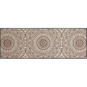 Salonloewe dörrmatta tvättbar Medaljong nougat 060x180 cm