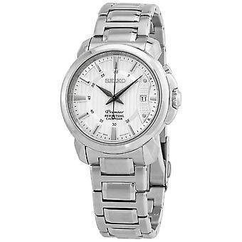 Seiko Premier Perpetual Quartz Silver Dial Men's Watch SNQ155